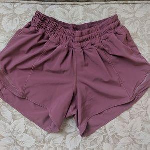 Mauve Lululemon Hotty Hot Shorts